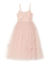 Shimmering Petals Long Tutu Dress
