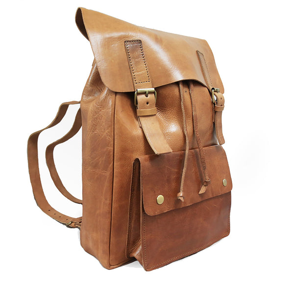 Charlie Backpack - Tan-ISMAD LONDON