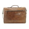 Camden Loop Briefcase -Tan-ISMAD LONDON