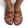 Ladies New York Sandals Tan-ISMAD LONDON