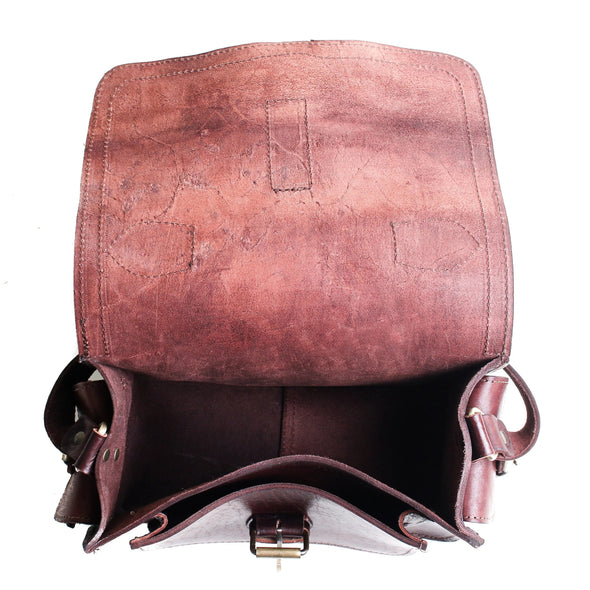 Camera Satchel Bag - Chocolate-ISMAD LONDON