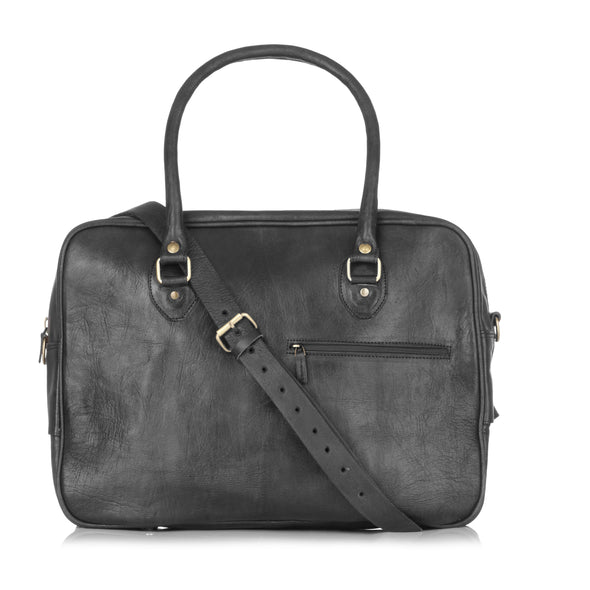 Fred Overnight Bag - Black-ISMAD LONDON