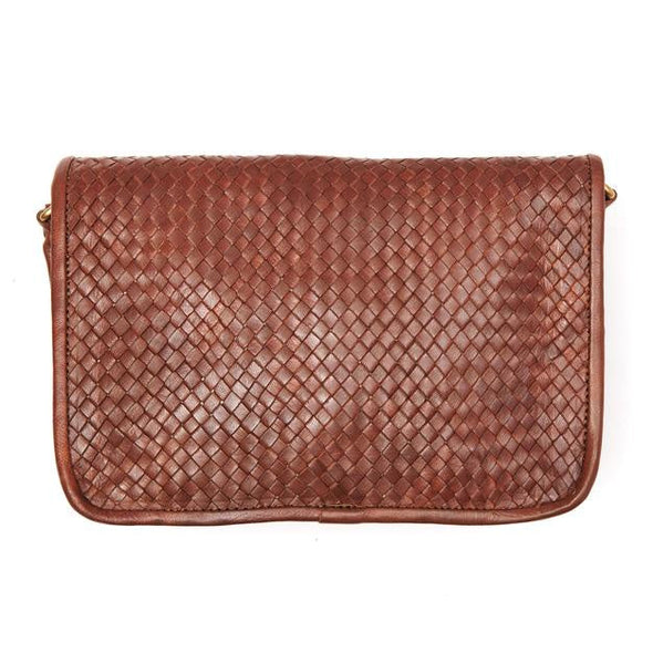 Charlotte Woven Shoulder Bag - Tan-ISMAD LONDON