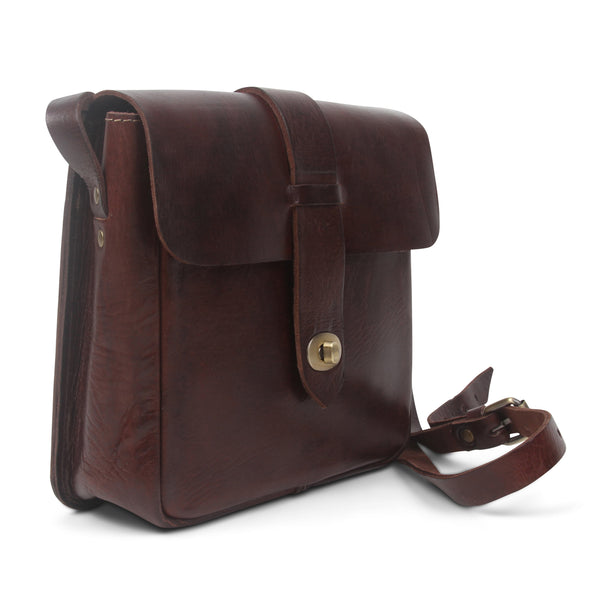 Kepton Crossbody - Chocolate-ISMAD LONDON