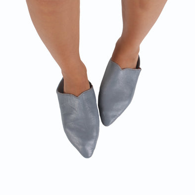 Women's Babouche - Grey - Artisan Stories