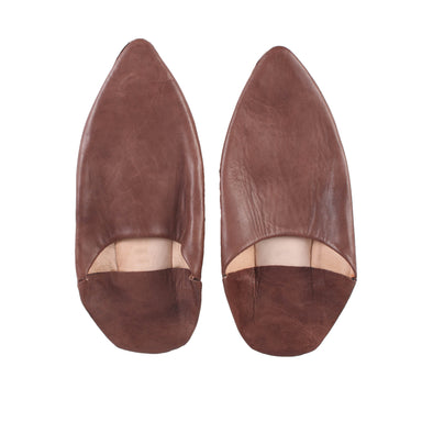 Men's Pointed Babouche - Brown - Artisan Stories