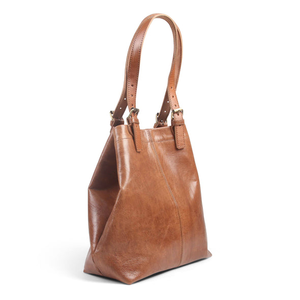 Shopper Tote - Tan-ISMAD LONDON