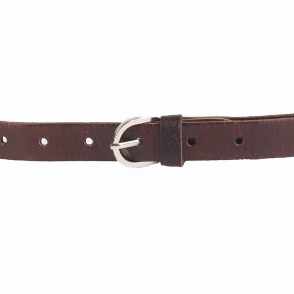 Skinny Leather Belt - handmade leather bags smadlondon