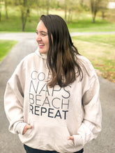 Load image into Gallery viewer, Coffee Naps Beach Repeat Sweatshirt