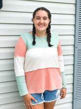 Load image into Gallery viewer, Mint + Peach Soft Summer Sweater