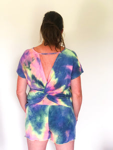 Cotton Candy Tie Dye Twist Top