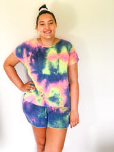Load image into Gallery viewer, Cotton Candy Tie Dye Shorts
