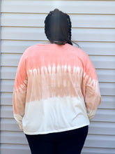 Load image into Gallery viewer, Feeling Tropical Long Sleeve Ombre Tie Dye Pullover