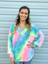 Load image into Gallery viewer, Dreaming of Summer Long Sleeve Tie Dye Pullover