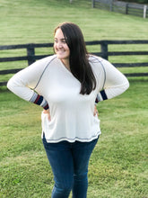 Load image into Gallery viewer, Soft and Sweet Knit Top--Cream