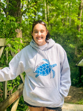 Load image into Gallery viewer, Live Slow Turtle Glitter Hoodie