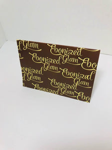 Ebonized Glam Greeting Card-Chocolate-Eggshell Lettering (single greeting card)