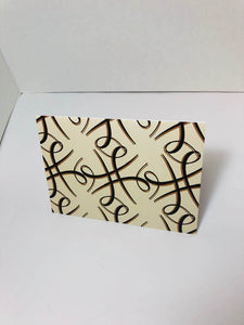 Melanin Hashtag Greeting Card-Eggshell-single greeting card