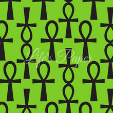 Load image into Gallery viewer, Ankh Green Gift Wrap Paper