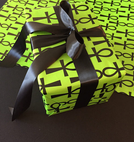 Ankh Green Gift Wrap Paper