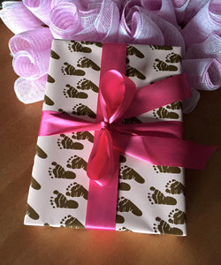 Brown Baby Girl Gift Wrap Paper