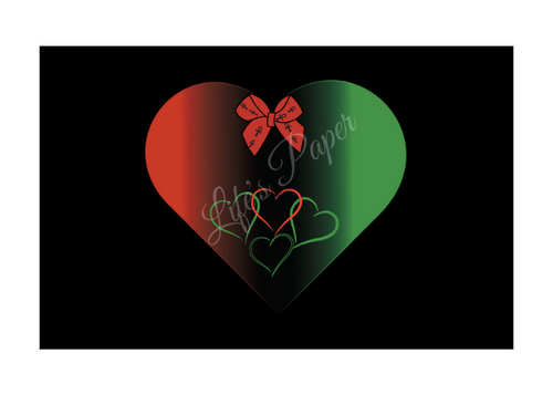 Black Love Greeting Card-(single greeting card) With White Border