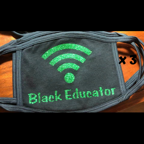 MASK BUNDLE 3 FOR $20 GREEN Non-Medical Wifi Signal Mask-Black Educator*Made To Order*