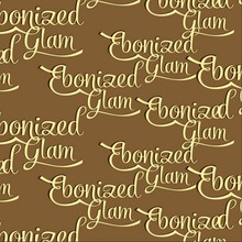 Load image into Gallery viewer, Ebonized Glam Greeting Card-Chocolate-Eggshell Lettering (single greeting card)