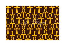 Load image into Gallery viewer, Ankh Greeting Card-Brown and Gold (single greeting card)