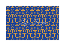 Load image into Gallery viewer, Ankh Greeting Card-Blue and Gold (single greeting card)