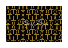 Load image into Gallery viewer, Ankh Greeting Card-Black and Gold (single greeting card)