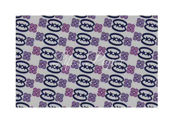 Greeting Card-Purple Adinkra-(single greeting card)