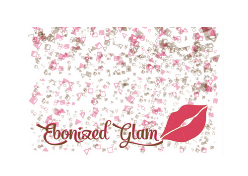 Ebonized Glam Greeting Card-Glitter (single greeting card)