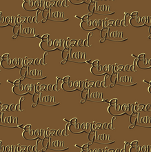 Load image into Gallery viewer, Ebonized Glam Greeting Card-Chocolate with Chocolate Lettering (single greeting card)