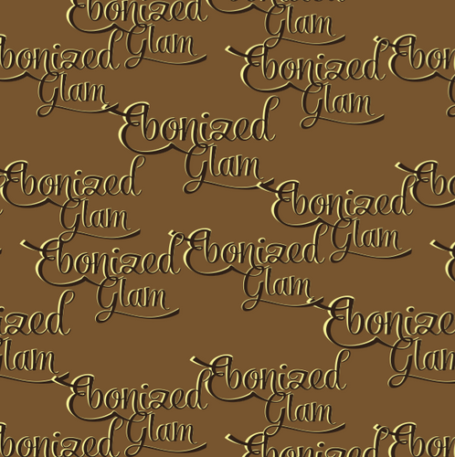 Ebonized Glam Greeting Card-Chocolate with Chocolate Lettering (single greeting card)