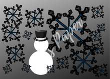 Load image into Gallery viewer, Winter at 8:46-Black Blizzard Greeting Cards- (BOXED-6 OF ONE DESIGN)