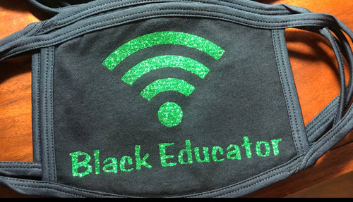 Non-Medical Wifi Signal Mask-Black Educator*Made To Order*