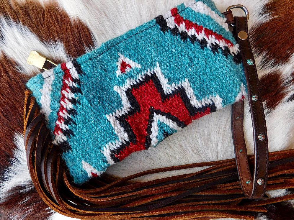 Carico Lake Saddleblanket Wristlet Fringed