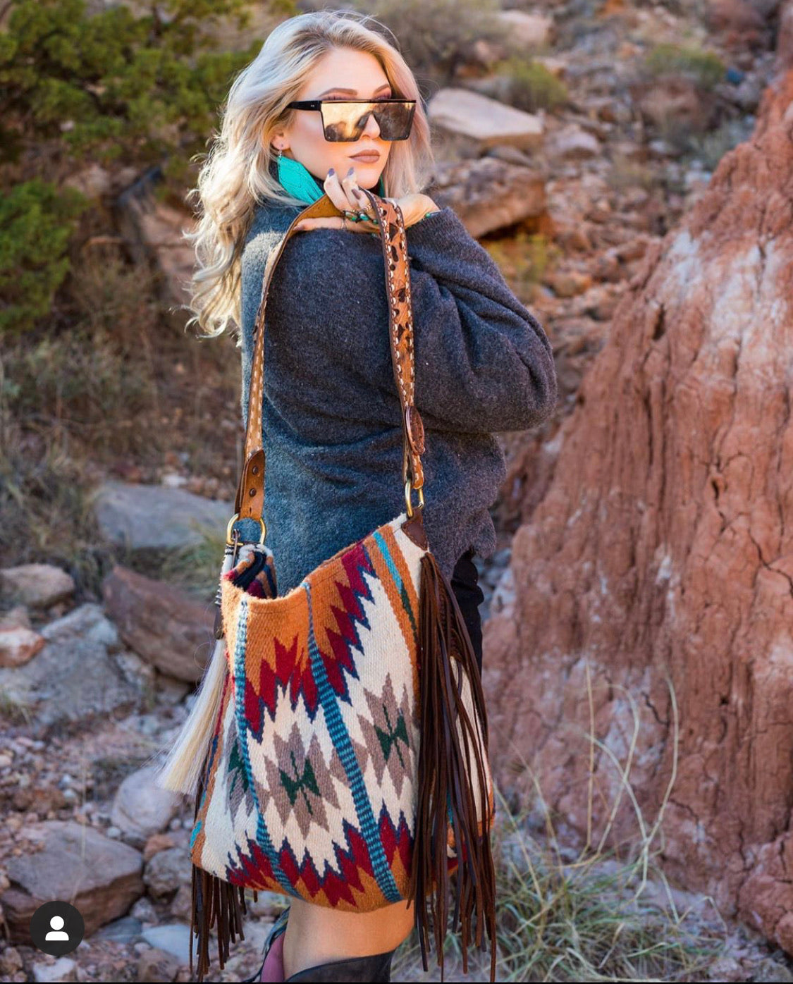 Desert Sunrise Saddleblanket Tote