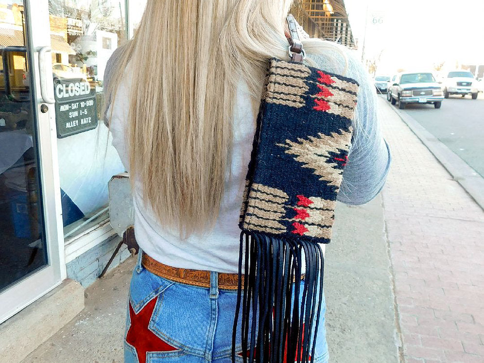Palo Duro Saddleblanket Wristlet Fringed