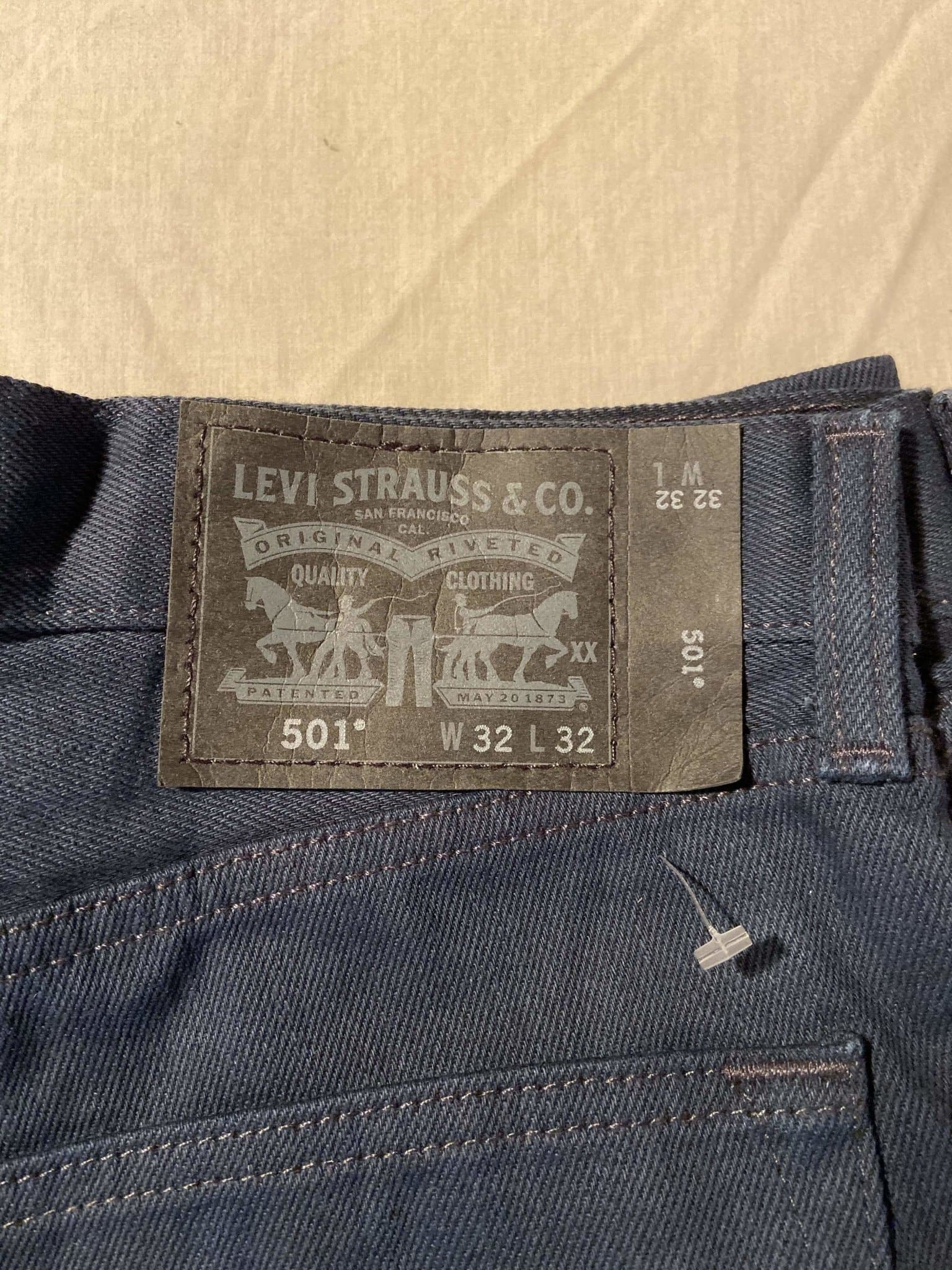 As New Without Tags Levi's Original 501 Regular Fit Jeans W32 L32 (DF5) - Discounted Deals UK