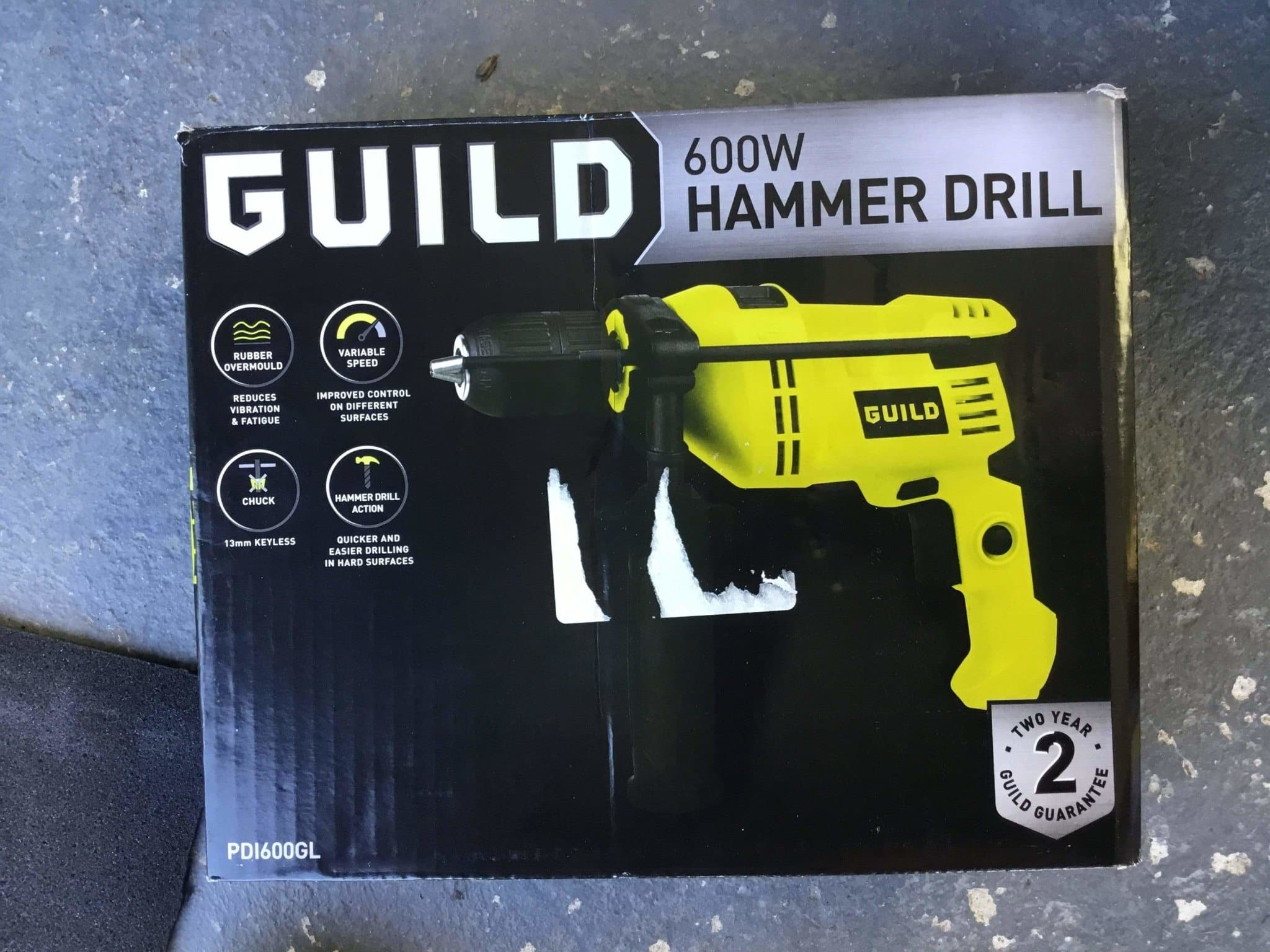 Guild 600w Power Hammer Drill - As New Condition - Discounted Deals UK