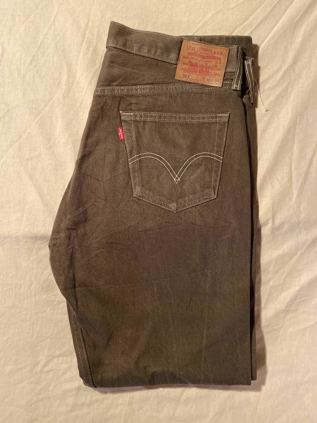 Immaculate As New Without Tags Levi's Original 501 Regular Fit Jeans W38 L34 (DF5) - Discounted Deals UK