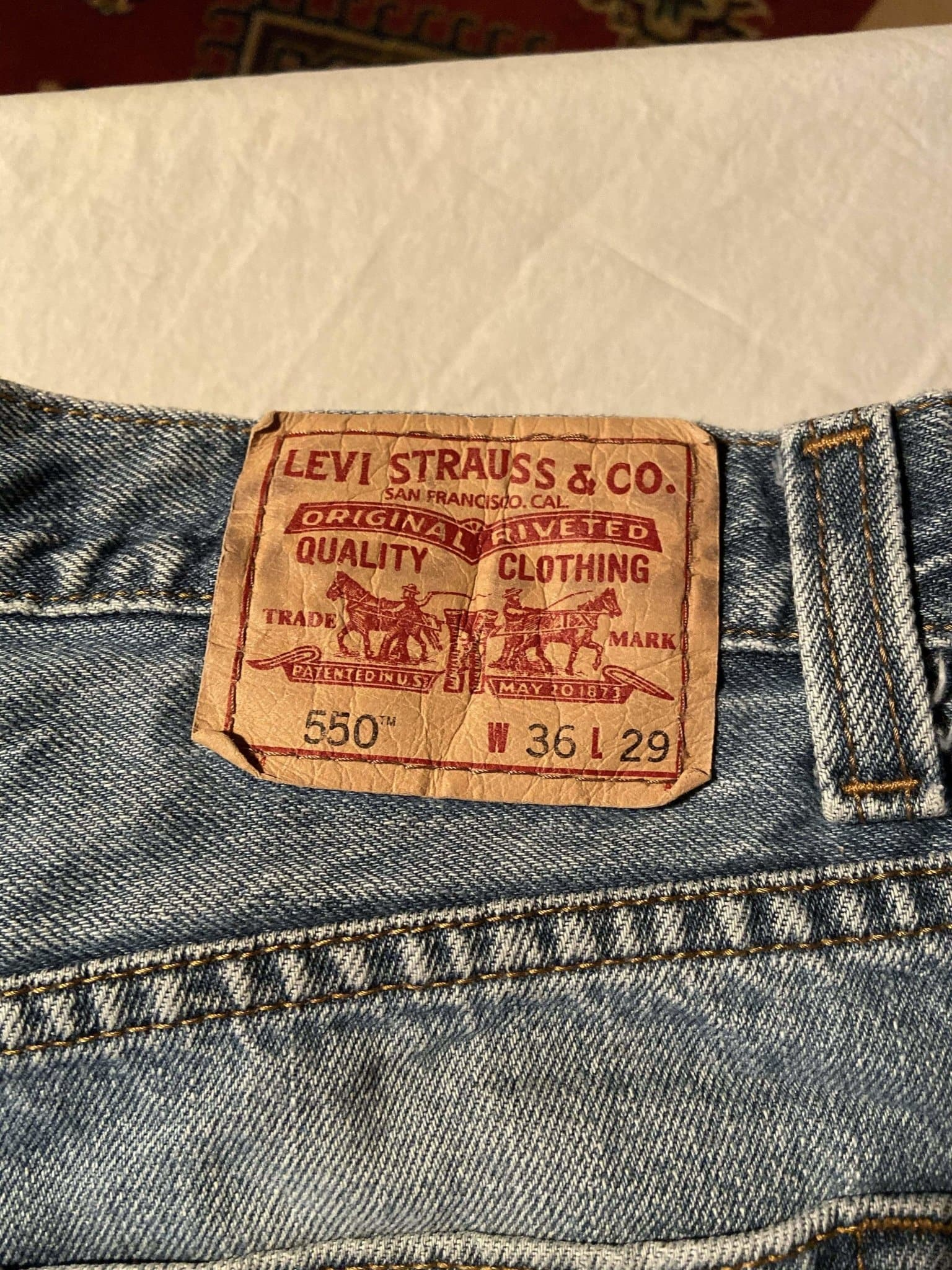 Levi's 550 Jeans W36 L29 (T3) - Discounted Deals UK