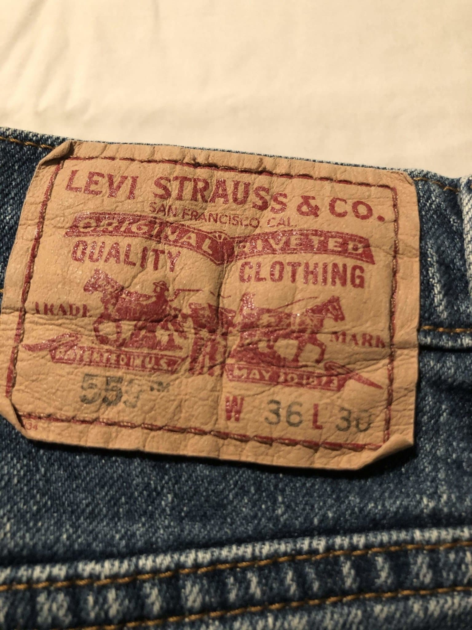 Levi's 559 Jeans W36 L30 (LV13) - Discounted Deals UK