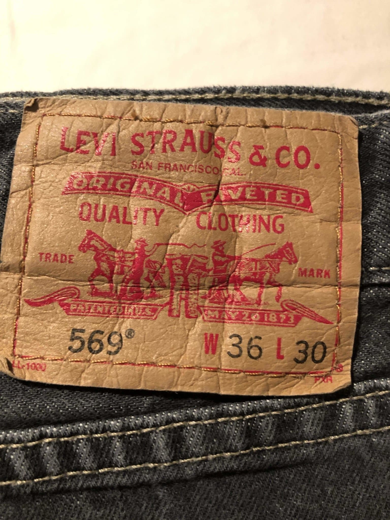 Levi's 569 Jeans W36 L30 (LV13) - Discounted Deals UK