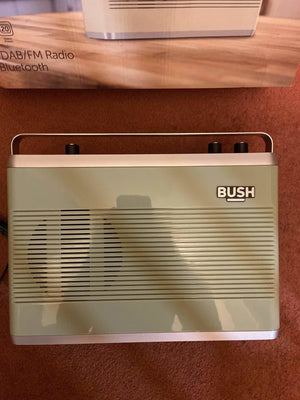 Lightly Used Condition Bush Retro DAB/FM Bluetooth Radio (Sage) - RRP £49.99 - Discounted Deals UK
