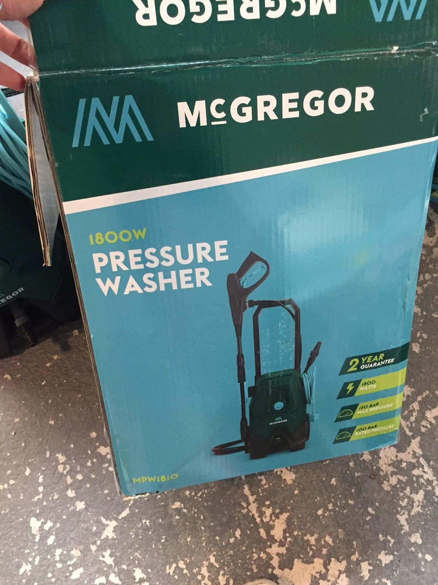 McGregor MPW1810 Pressure Washer - 1800W - 130 BAR - Power Tool DIY - Discounted Deals UK