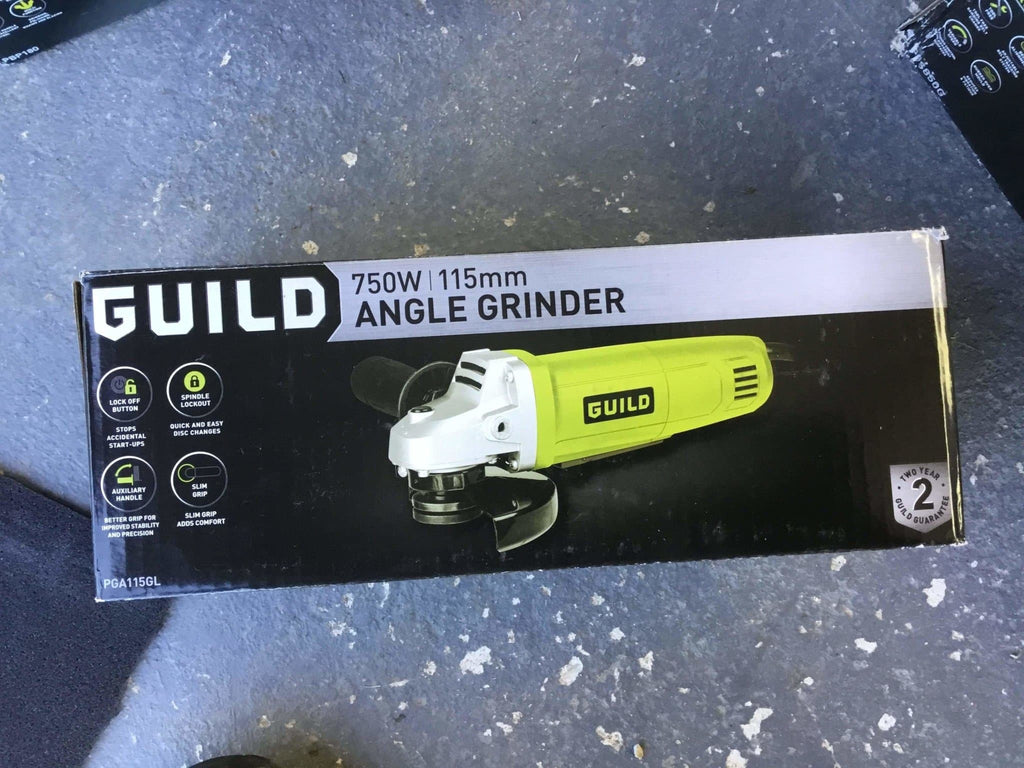 New Condition Guild 750w Angle Grinder - Free Delivery - Discounted Deals UK