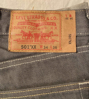 New Without Tags Levi's Original 501 Regular Fit Jeans W34 L36 (LJ5) - Discounted Deals UK